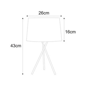 Table lamp K-4372 from the REMI GRAY series small 1