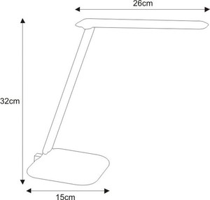 Desk lamp K-MT-204 white from the LOKO series small 1