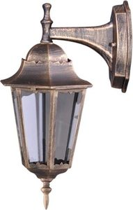 Outdoor wall lamp K-5006A DOWN black / gold from the LOZANA series small 0