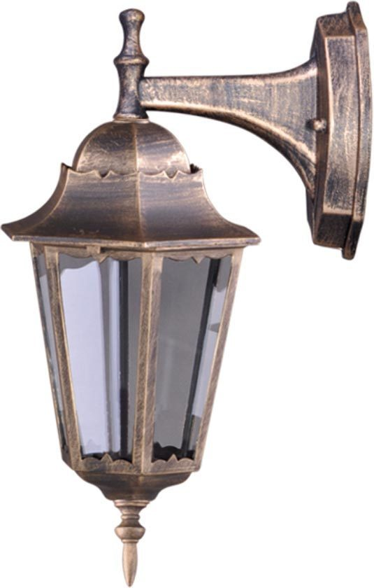 Outdoor wall lamp K-5006A DOWN black / gold from the LOZANA series