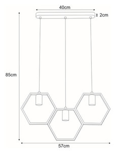Hanging lamp K-4721 from the HONEY series small 1