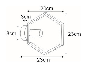 K-4725 wall lamp from the HONEY series small 1
