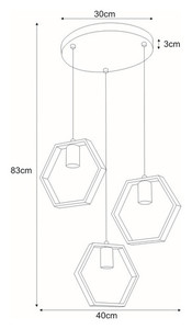Hanging lamp K-4722 from the HONEY series small 1