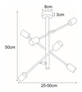Ceiling lamp K-4754 from the CAMARA series small 1
