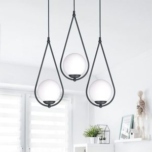 Hanging lamp K-4772 from the NEVE BLACK series small 4