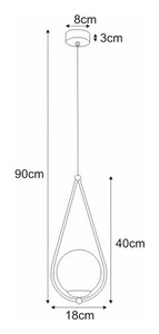 Hanging lamp K-4770 from the NEVE BLACK series small 1