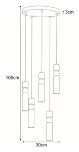 Hanging lamp K-4743 from the RIANO series small 1