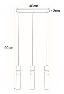 Hanging lamp K-4742 from the RIANO series small 1