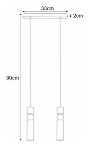 Hanging lamp K-4741 from the RIANO series small 1