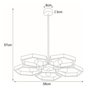 Hanging lamp K-4731 from the MARVEL series small 1