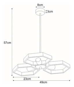 Hanging lamp K-4730 from the MARVEL series small 1