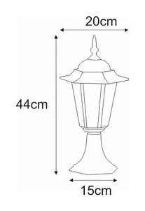 Low outdoor K-5009S black standing lamp from the STANDARD series small 1