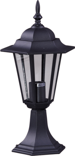 Low outdoor K-5009S black standing lamp from the STANDARD series
