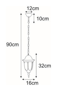 Hanging outdoor lamp K-5007H / N from the Vasco series small 1