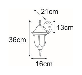 K-5007A / N DOWN outdoor wall lamp from the Vasco series small 1