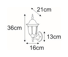 K-5007A / N black outdoor wall lamp from the Vasco series small 1