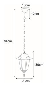 Hanging outdoor lamp K-5009H black from the STANDARD series small 1
