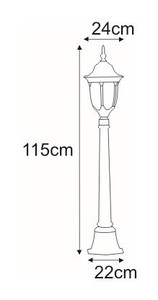 Low outdoor standing lamp K-6007A / L black / gold from the VASCO series small 1
