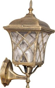 Outdoor wall lamp K-5180A black / gold from the KERRY series small 0