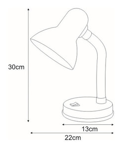 Desk lamp K-MT-203 blue from the CARIBA series small 1