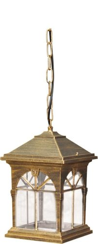 Hanging outdoor lamp K-5156H black / gold from the KERRY series