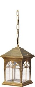 Hanging outdoor lamp K-5156H black / gold from the KERRY series small 0
