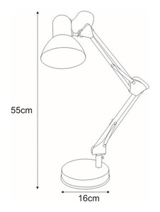 K-MT-COSMO silver desk lamp from the COSMO series small 1
