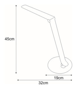 Desk lamp K-BL1201 silver from the DUO series small 1