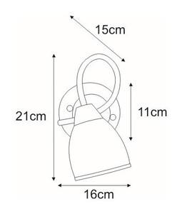 Wall lamp K-JSL-8090 / 1W CHR from the SAMIRA series small 1