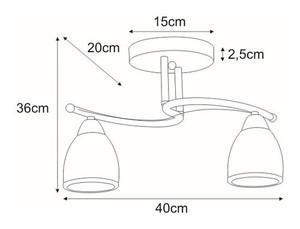 K-JSL-8090/2 CHR ceiling lamp from the SAMIRA series small 1