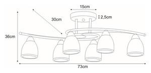 K-JSL-8090/6 CHR ceiling lamp from the SAMIRA series small 1