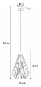 Hanging lamp K-3402 from the FEDOR series small 1