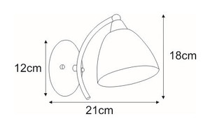 Wall lamp K-JSL-6236 / 1W CHR from the FAMA series small 1