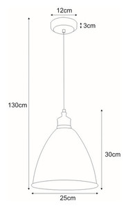 Hanging lamp K-8005-1 WH from the WATSO WHITE series small 1