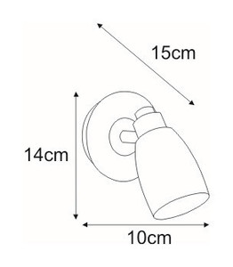 K-8007W-1 WH wall lamp from the PICARDO WHITE series small 1
