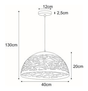 Hanging lamp K-8033-M BK from the KITI series small 1