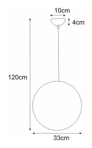 Hanging lamp K-OP-9043M from the MARIT series small 1
