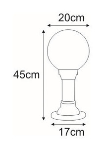 Low outdoor standing lamp K-ML-OGROD 200 0.2 KL. OPAL from the ASTRID series small 1
