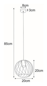 Hanging lamp K-4275 from the CARMEN series small 1