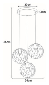 Hanging lamp K-4278 from the CARMEN series small 1