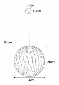 Hanging lamp K-4287 from the MODENA series small 1