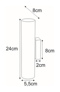Wall lamp K-4439 from the DOPIK series small 1