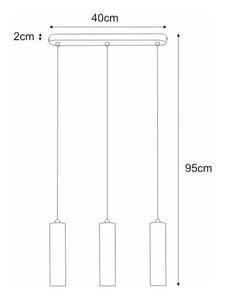 Hanging lamp K-4446 from the DOPIO series small 1