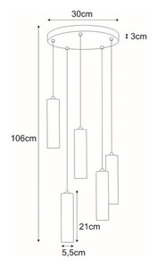 Hanging lamp K-4447 from the DOPIO series small 1