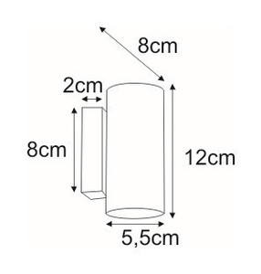 Wall lamp K-4448 from the DOPIO series small 1