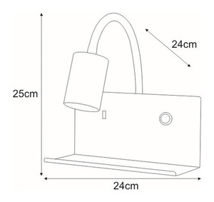 Wall lamp Bedside lamp K-4765 with a USB socket from the SET series small 1