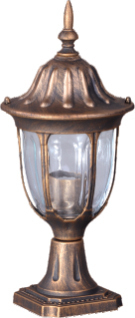 Low outdoor standing lamp K-5007S2 / N black / gold from the VASCO series