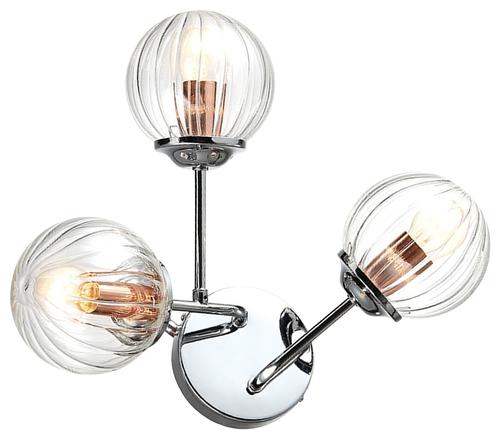 Best Lamp Wall 3X40W E14 Chrome + Copper