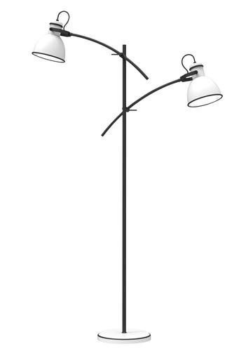 Zumba Floor Lamp Seatpost Simple 2X40W E27 White + Black
