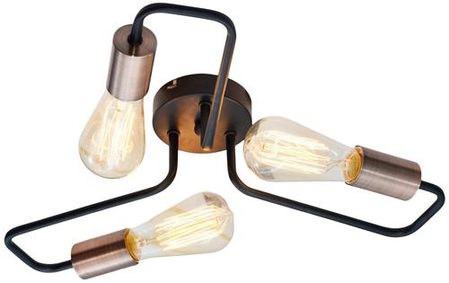 Herpe Ceiling Lamp 3X60W E27 Black